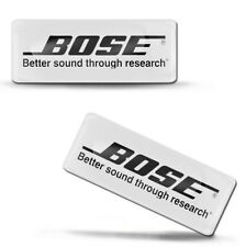 2 x 3D Silikon Aufkleber Bose Kopfhörer Sprecher Bluetooth Logo Emblem Abzeichen