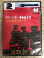 To Be Heard (DVD, 2013)-very Good Condition-ex Library-ships Free