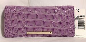Brahmin Melbourne ADY Slim Bifold Wallet Clutch LAVENDER Purple Lilac NWT Rare!
