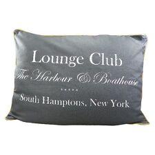 Kissen Kuschelkissen Lounge Club grau blau 35 X 50 Cm Vintage Shabby Design