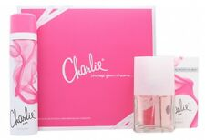 REVLON CHARLIE PINK GIFT SET 30ML EDT SPRAY + 75ML BODY SPRAY - WOMEN'S. NEW