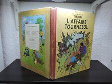 Tintin l'affaire tournesol EO 1956 B19 edition Francaise