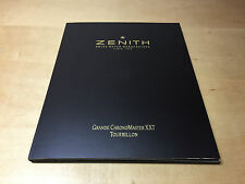 Press Release ZENITH - Grande ChronoMaster XXT Tourbillon - Español