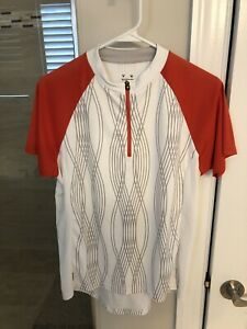 Bontrager Cycling Jersey - White And Orange- Mens Large