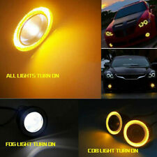 2X 2.5inch Round Amber Angel Eye Halo LED Projector Fog Light ATV Truck Car