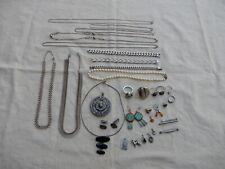 Silberschmuck Konvolut Silber 800; 835; 925 Ketten Ringe Armband Ohrringe
