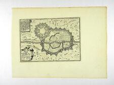 PLAN KARTE TOURNAI WALLONIEN BELGIEN KUPFERSTICH ANSICHT BEAULIEU 1665  #D857S