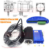 425oz.in 3NM Closed-Loop Stepper Motor NEMA23 3Ph Hybrid Servo DSP Driver +Cable