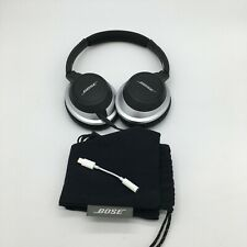 Bose AE2 Around Ear Audio Headphones - Black/Silver plus case and Apple adapter
