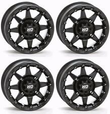 "STI HD5 14"" MATTE BLACK BEADLOCK 14X7 WHEELS POLARIS RZR 1000 900 800 XP TURBO"