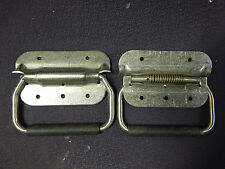 (2) New Spring Loaded Stainless Steel Cabinet / Tool Box Bail Handles Pair - Qty