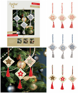 Anchor Christmas Decorations Collection - Counted Cross Stitch Kit - 3 Patterns
