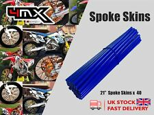 "Wheel Spoke Protectors Blue 21"" fits Suzuki RM125 12"
