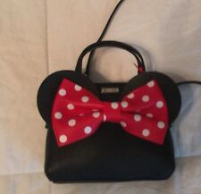 Disney Kate Spade Minnie Mouse Bow Cross body Clutch Hand Bag Purse NEW