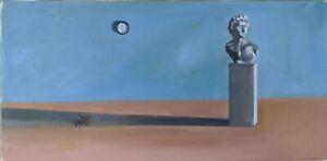 "OOAK Oil Painting ""Story of Man"" 12x24 by Bryce K Surrealism"