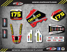 Honda CR 250 1990 1991 Full Custom Graphic Kit SONIC Style sticker kit decals