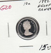 G20 CANADA 10c - 10 CENTS COIN 1982 PROOF FROSTED CAMEO DESIGN $15.00