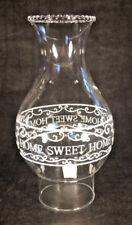 """HOME SWEET HOME BOROSILICATE KEROSENE OIL LAMP CHIMNEY 3"""" x 8 3/4"""" for #2 burner"""