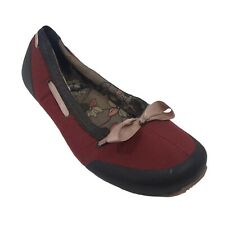 Teva Women's Ballet Flats Red/Pink  Sole 50% Recycle Rubber Size 9