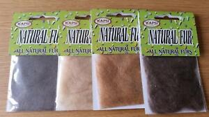 Wapsi Natural Fur Dubbing, Choice of Colour | Great for Trout, Grayling Patterns