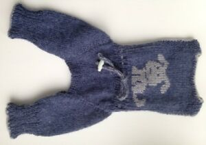 Handknit woolblend dog pants/warm pet clothing/jeans and gray dog jumpsuit