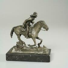 """New listing Philip Kraczkowski """"Pony Express"""" Pewter Sculpture For American Frontier, 1971"""
