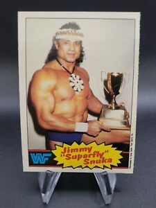 "1985 OPC WWF Wrestling Jimmy ""Superfly"" Snuka #6 RC Rookie Nice"