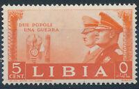 1941 COLONIA LIBIA ALLEANZA HITLER MUSSOLINI CENT 5 MNH ** - RE66-4