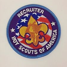 BSA Embroidered Recruiter Patch Boy Scouts of America NEW Mint condition