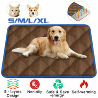 ❤️ Washable Pets Thermal Mat Self Warming Heating Hot Cat Dog Pad Bed Cushion y