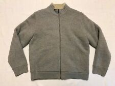 L.L. Bean Lambs Wool Polyester Lining Long Sleeve Zip Up Sweater Mens L/Reg  NC1