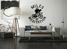 Wall Decal Room Sticker bedroom miles are meditation bicycle bmx nursery bo3251