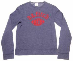 ABERCROMBIE & FITCH Boys Sweatshirt Jumper 9-10 Years Medium Blue Cotton HQ03