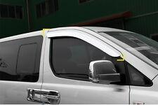Chrome Weather shields 2pcs for 2008 ~ 2016 Hyundai iLoad