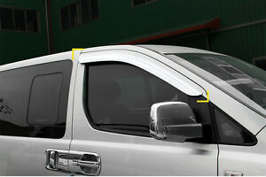 Chrome Weather shields 2pcs for 2008 ~ 2017 Hyundai iMax