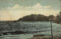 Short Beach CT Storm Dock c1910 Postcard