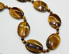 Eye Necklace 18'' Aaa Yl New Natural 13X18mm 6mm Yellow Tiger