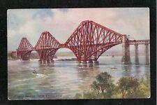Forth Road Bridge Near Edinburgh 1950's ? Postcard