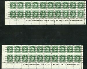 Weeda Canada 338xx VF MNH/MH plate #4 & 5, precancelled Wilding Warning strips
