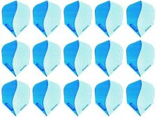 5 Sets of Harrows Marathon Standard Dart Flights - Blue Swirl - Ships W/Tracking