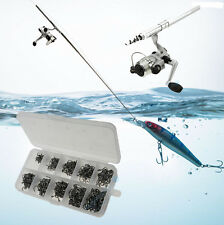 Aluminum Pocket Pen Shape Fishing Fish Rod Pole+Reel with 500 Pcs Fish hooks USA