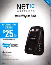 NEW NET10 LG 442G Cell Phone Prepaid Flip-Phone 3G No Contract 441G 442BG 440G
