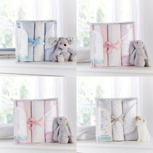 Clair de Lune Stars & Stripes 3 Piece Moses Basket Bedding Bale Gift Set
