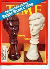 Vintage Time Magazine, The Big Chess Battle - Spassky vs Fischer - 31 July 1972