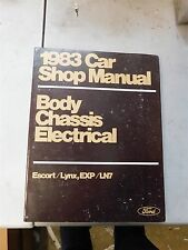 Nos 1983 Ford Escort Mercury Lynx Exp Ln7 Body Chassis Elect Shop Service Manual