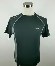 Asics Mens Stretch Polyester Ss Crew Neck Black Activewear Compression T Shirt L