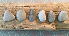 6 Stunning Blue Beach Slag Glass Rocks Pendants Lake Michigan Jewelry Crafts  #8