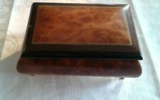 VINTAGE JEWELRY WOODEN MUSICAL BOX MADE IN ITALY SANKYO JAPAN WORKING