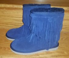 Koolaburra by UGG 1015897 Ankle Cable Winter Boots Woman US 6 Navy Blue NEW $95