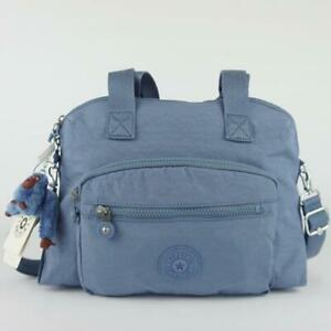 KIPLING TRACY Tote Satchel Shoulder Crossbody Bag Blue Buzz
